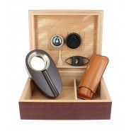 Deluxe BOX Case for 12 CIGARS Cedar WOOD with Accessories DAL NEGRO 02974