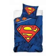 Set Letto SUPERMAN LOGO Scudo COPRIPIUMINO e FEDERA 100% Cotone 160x200