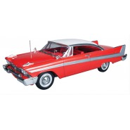 CHRISTINE Car Model KIT Pre-Colored 1958 PLYMOUTH BELVEDERE Red 1:25 AMT