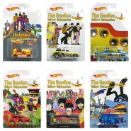 THE BEATLES Set 6 Modellini YELLOW SUBMARINE 1:64 MATTEL Hot Wheels DIE CAST Veicoli