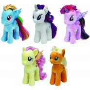 PELUCHE Grande 28cm MY LITTLE PONY Originale Ufficiale TY Plush RAINBOW TWILIGHT a scelta