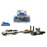 THE BLUES BROTHERS 3-Pack Models BLUESMOBILE and PICKUP with TRAILER Scala 1/64 Greenlight