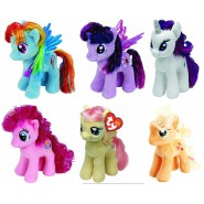 SET 6 Peluche MY LITTLE PONY 18cm MIO MINI PONY Originali Ufficiali TY Plush