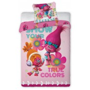 BED SET Duvet Cover TROLLS True Colors POPPY and DJ SUKI 160x200cm COTTON