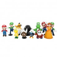 SUPER MARIO Set 12 MINI FIGURE Special Gift Box UFFICIALE Originale NINTENDO