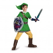 COSTUME Carnevale Bambino LINK The Legend Of Zelda DELUXE Ufficiale NINTENDO Disguise M L