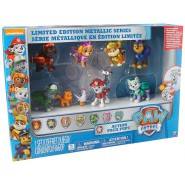 PAW PATROL Special Box 9 Figure METALLIC - ACTION PUP Personaggi ZAINETTO ACCESSORI Spin Master