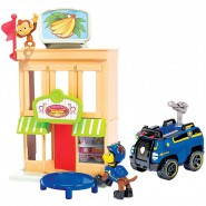 PAW PATROL Special Playset CHASE and MANY Monkey AT BAKERY Spin Master TOWNSET