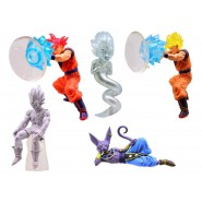 DRAGONBALL Z Set Completo 5 FIGURE Collezione DESKTOP Collection 2 Bandai Gashapon GOKU VEGETA