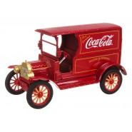 Modellino COCA COLA Furgone FORD MODEL T 1917 Rosso RUOTE NERE 1/24 Motor City