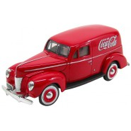 Modellino COCA COLA Furgone FORD SEDAN DELIVERY del 1940 Scala 1/24 Motor City