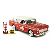 Modellino COCA COLA Auto CHEVY BEL AIR NOMAD WAGON del 1955 Scala 1/24 Motor City