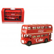 Modellino COCA COLA Bus ROUTEMASTER LONDON DOUBLE DECKER 1/64 Motor City