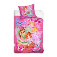 BED SET Duvet Cover WINX CLUB Butterflies Fairies 160x200 100% COTTON