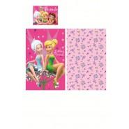 Set Letto BABY Disney FAIRIES TINKERBELL Campanellino COPRIPIUMINO 90x140 100% Cotone
