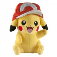 POKEMON Plush Figure 25cm PIKACHU with ASH CAP Original TOMY
