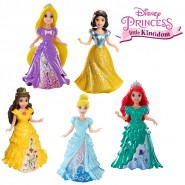 Figura PRINCIPESSE DISNEY Little Kingdom 9cm CON VESTITO MAGICLIP Magic Clip MATTEL Scelta Principessa