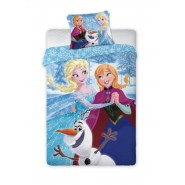 Set Letto FROZEN Anna Elsa Olaf CARTOON Disney COPRIPIUMINO COTONE 140x200