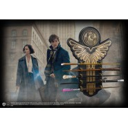 WALL DISPLAY with SET 5 Resin MAGICAL WANDS from FANTASTIC BEASTS Official Noble Collection