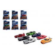 FAST FURIOUS Set 6 Modelli AUTO DieCast Scala 1/55 Dom Letty Brian ORIGINALI Jada