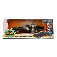 BATMAN Serie TV Classic BATMOBILE Model with 2 METAL Figures Batman Robin Scale 1/24 JADA TOYS