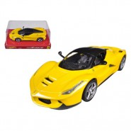 Modello Auto FERRARI La Ferrari Gialla Scala 1/24 DieCast HOT WHEELS Mattel BLY63