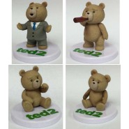 TED 2 Film ORSETTO VOLGARE Raro Set Completo 4 Mini Figure Plastica 4cm TOMY Japan