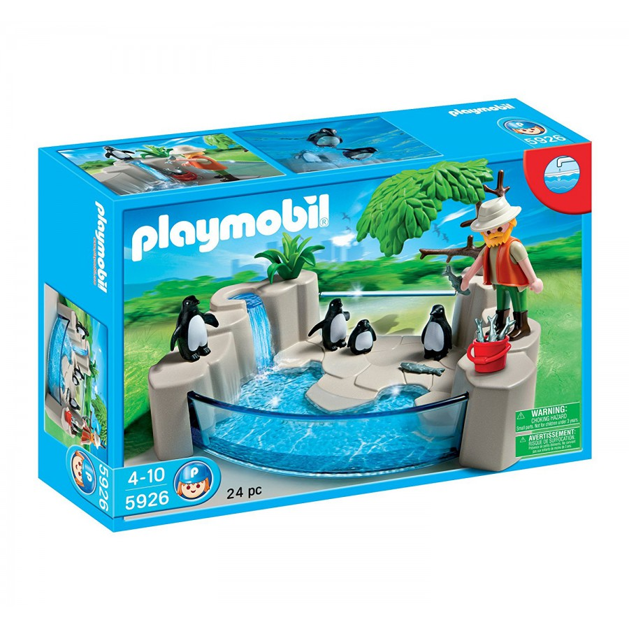 Set playset penguins at the zoo playmobil 5926 original for Piscinas toy