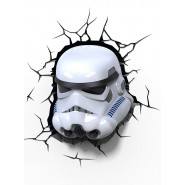 STAR WARS Luce SOLDATO CLONE Stormtrooper LAMPADA LED Muro Parete DISNEY Lucasfilm 3D LIGHT