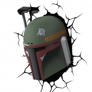 STAR WARS Luce BOBA FETT Casco Elmo LAMPADA LED Muro Parete DISNEY Lucasfilm 3D LIGHT