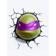 TARTARUGHE NINJA Turtles DONATELLO Luce LAMPADA LED Muro Parete 3D LIGHT Philips NICKELODEON