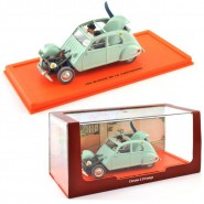 TIN TIN Model Car CITROEN 2 CV BELGE DieCast Scale 1/43 With FIGURES Original ATLAS TINTIN