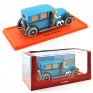 TIN TIN Model Car TAXI CHECKER DieCast Scale 1/43 With FIGURES Original ATLAS TINTIN