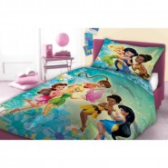 Bed Set DISNEY FAIRIES Tinkerbell and FRIENDS 160x200cm Duvet Pillow Cover COTTON