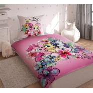 Set Letto MY LITTLE PONY Trio BEST FRIENDS 160x200cm Copripiumino Federa COTONE