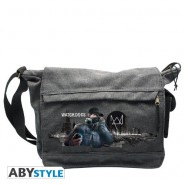 Borsa Tracolla WATCH DOGS Videogame CITY Città 32x25x10cm ORIGINALE Messenger Postino