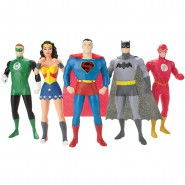 Dc Comics SUPER HEROES Special BOX 5 Bendable Figures 14cm JUSTICE LEAGUE NEW FRONTIER