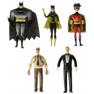 BATMAN THE NEW ADVENTURE Special BOX 5 Bendable Figures 14cm BATMAN NEW ADVENTURES Robin Alfred Batgirl Gordon