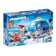 Playset CAMPO BASE DEGLI ESPLORATORI Ghiacci Igloo POLO NORD Playmobil Action 4897