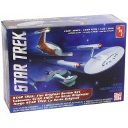 STAR TREK Set 3 MODELS Kit 1/2500 THE ORIGINAL SERIE Enterprise NCC-1701 + KLINGON + ROMULAN