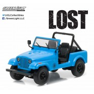 Modellino JEEP DHARMA CJ7 Dal Telefilm LOST Scala 1/43 DieCast Greenlight