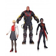 BATMAN Arkham Origins 3-Pack BOX 3 Figure Action 18cm DR. HARLEEN + ELCTROCUTIONER + LADY SHIVA Originale DC COLLECTIBLES