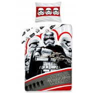 STAR WARS VII Captain Phasma Stormtrooper BED SET 140x200cm OFFICIAL Duvet Cover COTTON
