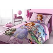 Set Letto PRINCIPESSA SOFIA Sweet Princess COPRIPIUMINO e FEDERA Cotone ORIGINALE Disney
