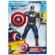 CAPITAN AMERICA Figura Action 23cm SHIELD STORM Elettronica SONORO Hasbro