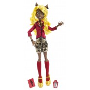 CLAWDIA WOLF Camera Action Bambola Figura 27cm MONSTER HIGH Mattel BLW96
