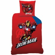 BED SET Duvet Cover Cotton IRON MAN and CAPTAIN AMERICA 140x200cm Original MARVEL