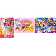 PUZZLE Super Color WINX 3 Puzzles 48 Pieces Clementoni 25169