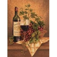 PUZZLE in SUGHERO 500 Pezzi NATURA MORTA Vino Rosso CORK Raro Clementoni 30202