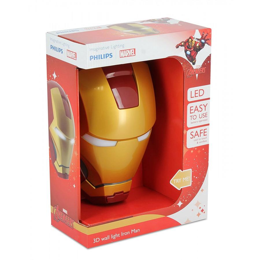 LAMP LED Wall Light IRON MAN Mask 3D Philips MARVEL COMICS Avengers - Apecollection